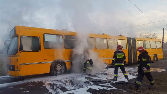 Pożar autobusu MZK w Gorzowie. FOTO !