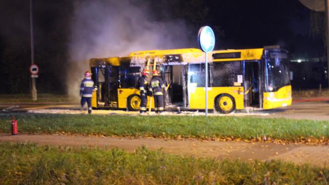 Pożar autobusu MZK w Oświęcimiu. ZDJĘCIA !