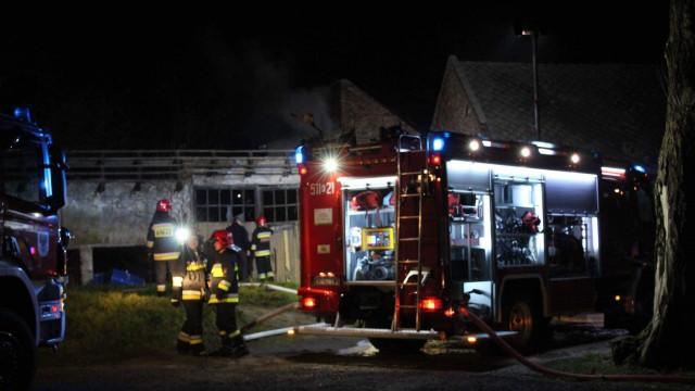 Pożar budynku gospodarczego w Oświęcimiu. ZDJĘCIA !