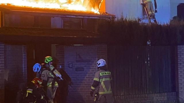 Pożar budynku mieszkalnego w Oświęcimiu. ZDJĘCIA!