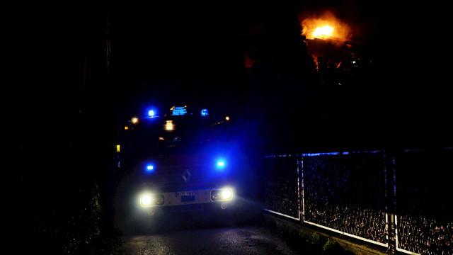 Pożar budynku przy ulicy Storczkowej w Brzeszczach -FOTO- InfoBrzeszcze.pl