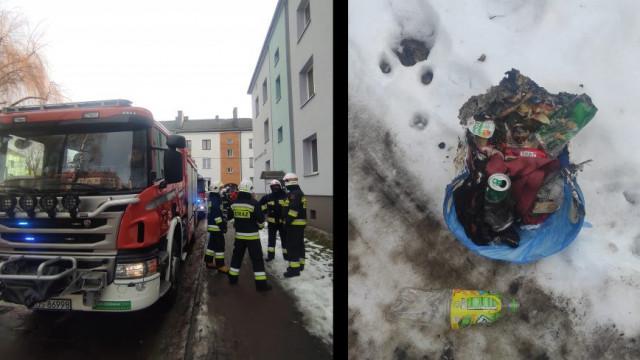 """Pożar ,,kosza na śmieci"""" w mieszkaniu przy ul.Żwirki i Wigury w Brzeszczach - InfoBrzeszcze.pl"""