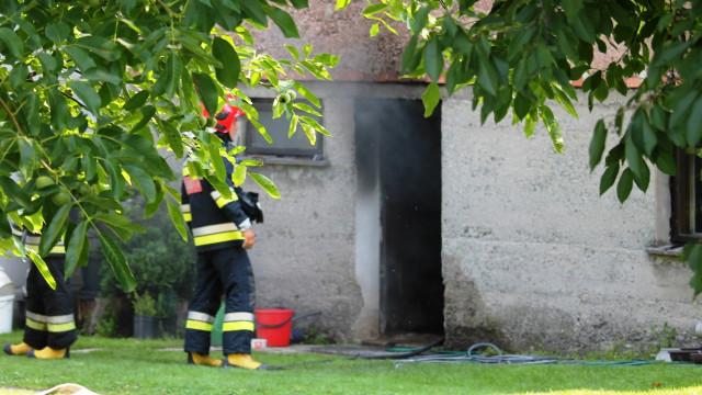 Pożar kotłowni w Porębie Wielkiej. ZDJĘCIA!