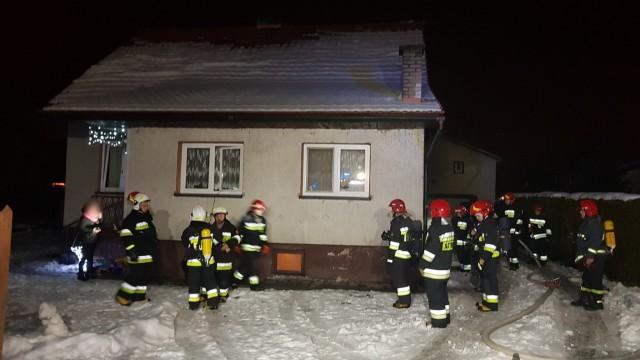 Pożar kotłowni w Skidziniu. ZDJĘCIA, FILM!