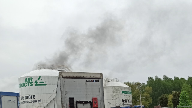 """Pożar na terenie ,,gazów technicznych"""" w Oświęcimiu – FILM, ZDJĘCIA!"""