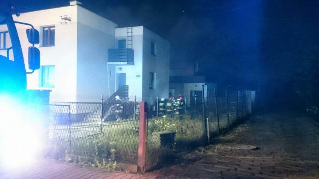 Pożar piwnicy w Kętach. ZDJĘCIA, FILM !
