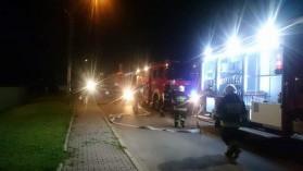 Pożar piwnicy w Kętach