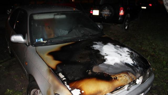 Pożar samochodu w Oświęcimiu. ZDJĘCIA !