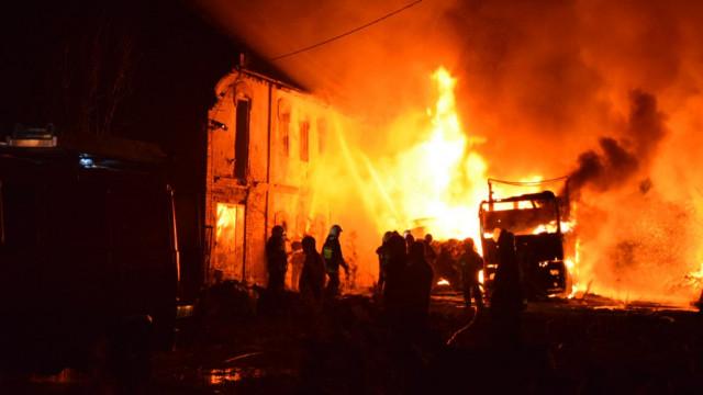 Pożar w Łękach. FILM!