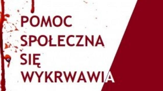 Pracownicy kęckiego GOPS-u przyłączyli się do ogólnopolskiej akcji protestacyjnej