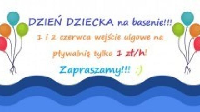 PROMOCJA z okazji DNIA DZIECKA na kęckiej pływalni!!!