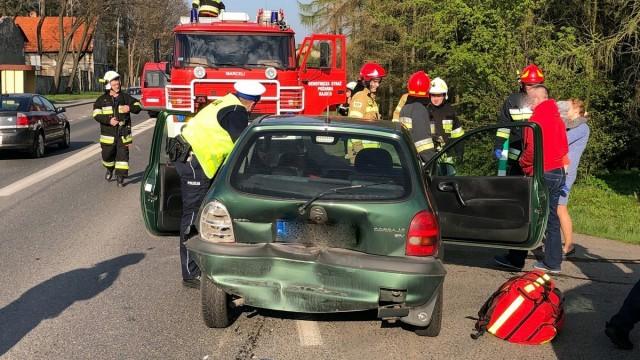 RAJSKO. W drugim poniedziałkowym zderzeniu trzech aut ucierpiała kobieta