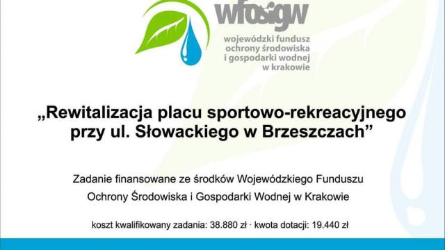 Rewitalizacja placu sportowo-rekreacyjnego na ul. Słowackiego zakończona. - InfoBrzeszcze.pl
