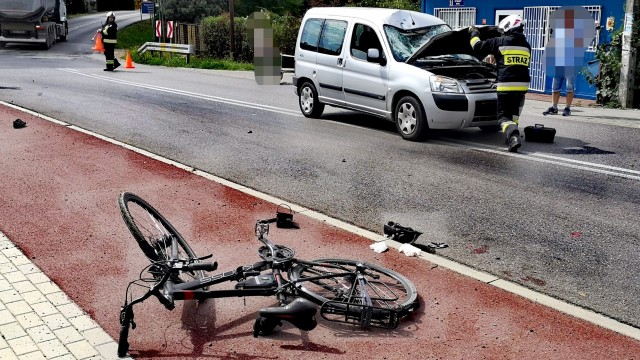 Rowerzysta nieprzytomny przetransportowany do Szpitala. Jego personalia nie są znane