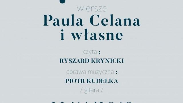 Salon Poezji w MDSM. Ryszard Krynicki czyta wiersze Paula Celana