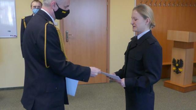 Ślubowanie w Komendzie Powiatowej Państwowej Straży Pożarnej