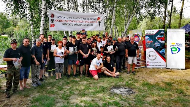 Strażacy OSP z powiatu oświęcimskiego, rywalizowali w zawodach wędkarskich – ZDJĘCIA!
