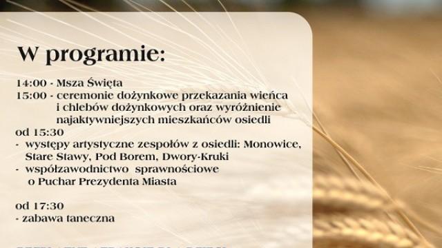Święto Plonów w Monowicach