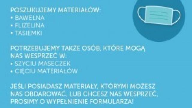 Szyjemy maseczki dla szpitala w Oświęcimiu. Przyłącz się!
