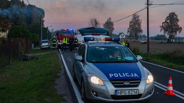 Tragiczny wypadek na Łęckiej- motocyklista w ciężkim stanie trafił do szpitala - InfoBrzeszcze.pl