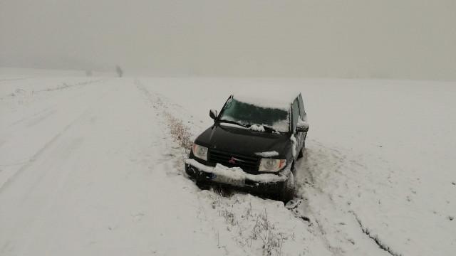 Trudne warunki na drogach powiatu oświęcimskiego.