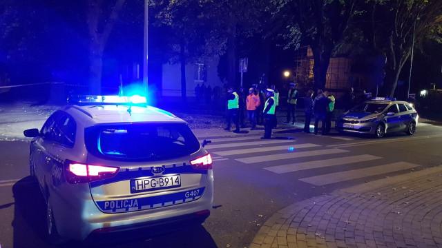 Trwają czynności policyjne na ul. Wyspiańskiego w związku potrąceniem chłopca przez kolumnę rządową. ZDJĘCIA!