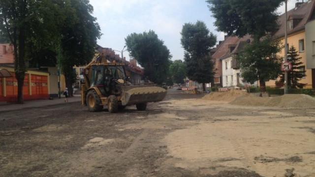 Trwają prace na ulicy Śniadeckiego