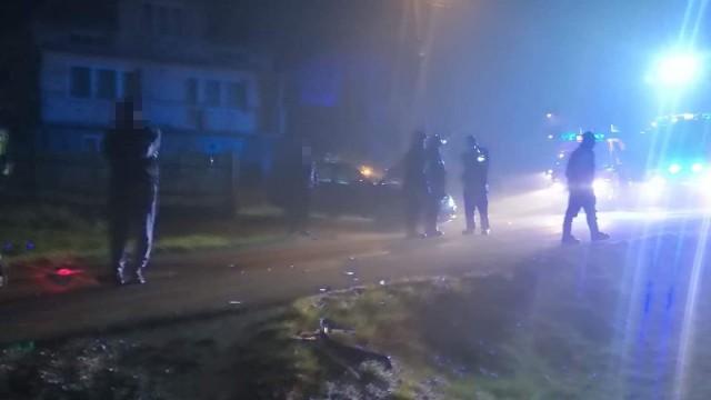 Trzy samochody zderzyły się na drodze z Osieka do Witkowic – ZDJĘCIA!