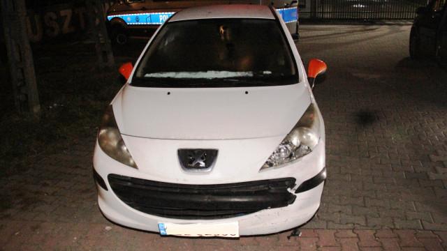 Ukrainiec zabrał samochód, spowodował nim kolizję, a następnie uciekł z miejsca zdarzenia
