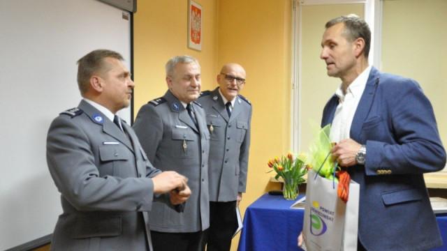 Uroczyste pożegnanie insp. Bogdana Syrka Komendanta Powiatowego Policji w Oświęcimiu