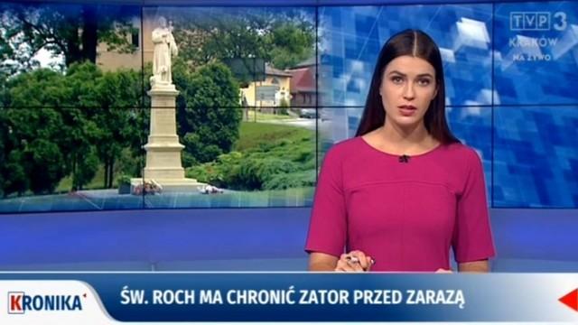Uroczystość nadania patronatu św. Rocha w TVP Kraków