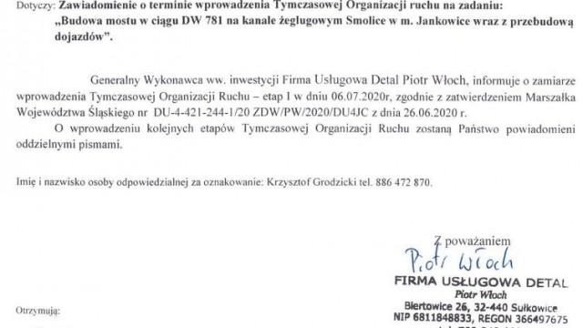Utrudnienia na DW781 w Podolszu