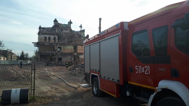 UWAGA ! Pożar Hotelu Glob w Oświęcimiu. ZDJĘCIA, FILM!