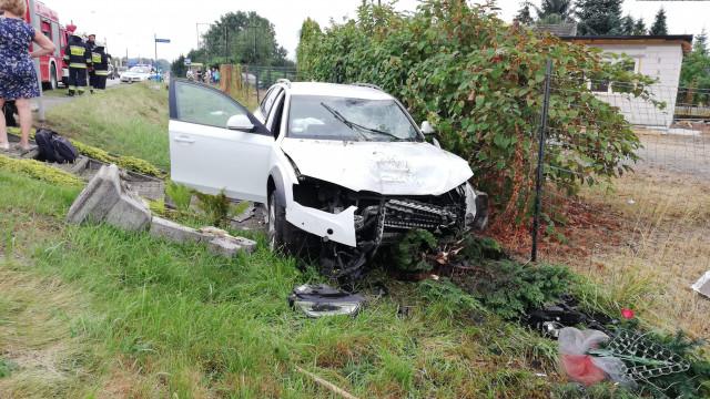UWAGA ! Wypadek na DW948 w Oświęcimiu. ZDJĘCIA!