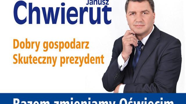 VIDEO-OŚWIĘCIM. Janusz Chwierut prezydentem Oświęcimia!
