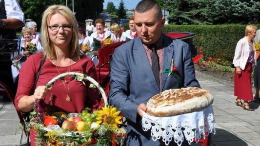 W gminie Chełmek dziękowali za plony – FOTO