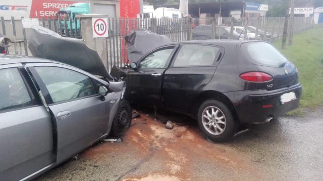 W Zatorze zderzyły się dwa pojazdy. ZDJĘCIA!