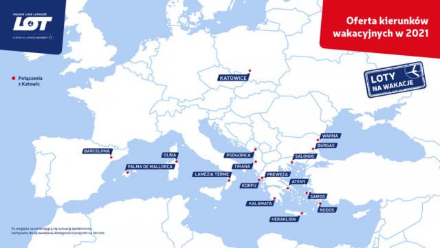 Wakacyjne kierunki LOT-u bezpośrednio z Katowic już od końca maja