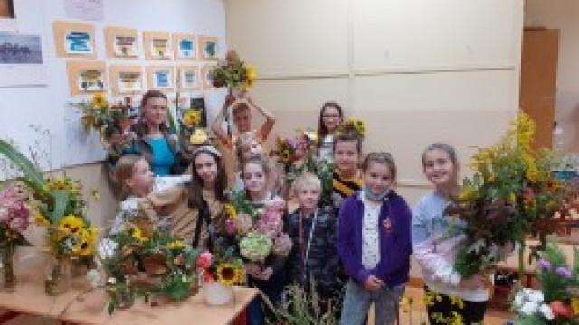 Warsztaty florystyczne dla uczniów w ZSP nr 3 Kęty