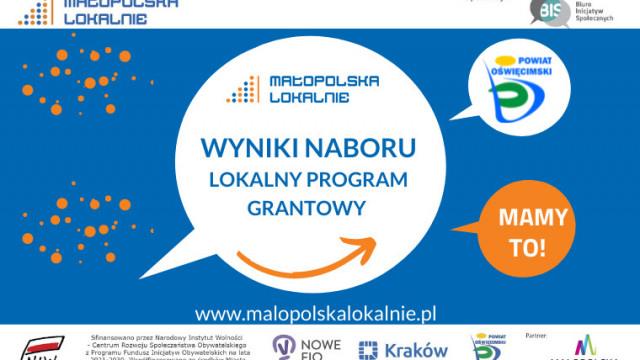 Wyniki naboru w Lokalnym Programie Grantowym Powiatu Oświęcimskiego