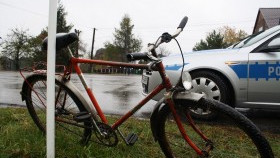 Wypadek drogowy w Kętach. Potrącony rowerzysta.