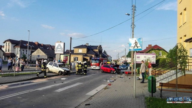 Wypadek drogowy w Kętach. ZDJĘCIA!