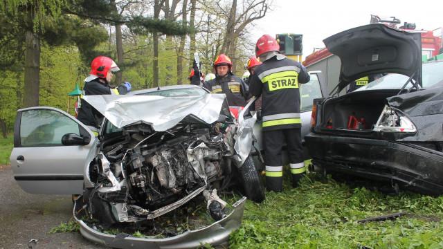 Wypadek drogowy w Porębie Wielkiej ul.Wadowicka. ZDJĘCIA !