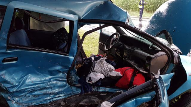 Wypadek na DK44 w Oświęcimiu. Trzy osoby poszkodowane. ZDJĘCIA!