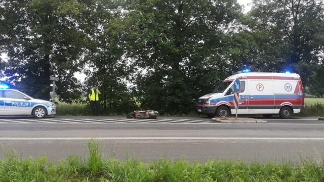 Wypadek na DW933 w Brzeszczach - InfoBrzeszcze.pl