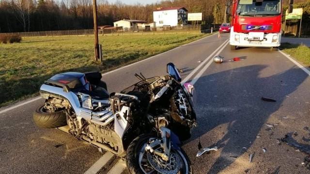 Wypadek na DW949 w Jawiszowicach – ZDJĘCIA!