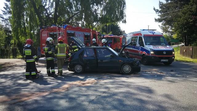 Wypadek na DW949 w Przeciszowie – ZDJĘCIA!
