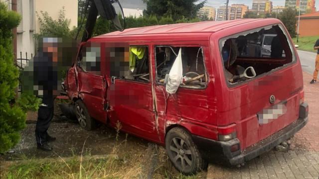 Wypadek na ulicy Zaborskiej w Oświęcimiu – ZDJĘCIA!