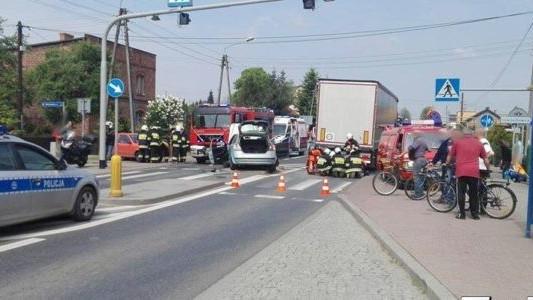 Wypadek w Bieruniu. Ruch na Śląsk wstrzymany