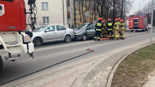 Wypadek w Oświęcimiu. Jedna osoba poszkodowana – ZDJĘCIA!